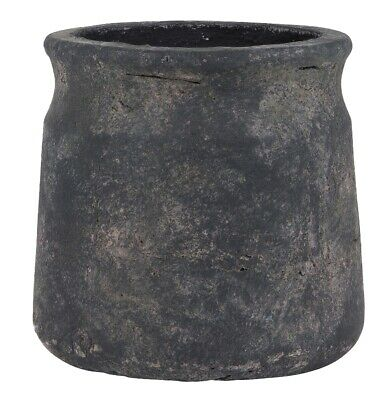 Rustic Style Clay Flower Herb Pot / Planter with Edge Athens by Ib Laursen 13 cm