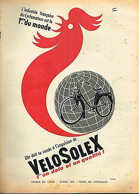 D- Publicité Advertising 1956 Cyclomoteur Velosolex par René Ravo