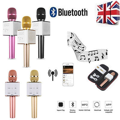 Q7 Q9 Pro Wireless Karaoke Microphone KTV Bluetooth Player Mic Speaker For Phone