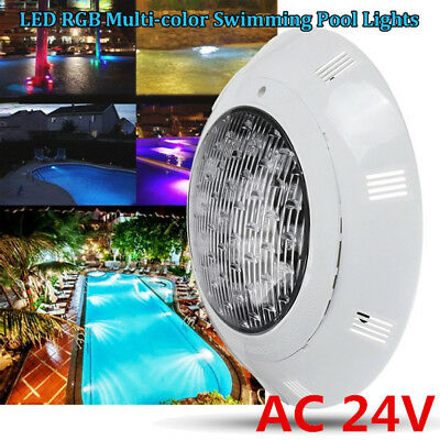 7 Colors 24V 252 LED RGB Underwater Swimming Pool Bright Light w/Remote Control