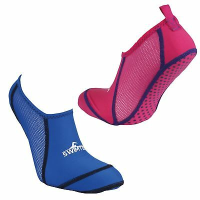 Swim Tech Anti Slip Verruca Swimming Pool Sock Pink or Blue UK 10-13, 1-4, 5-7