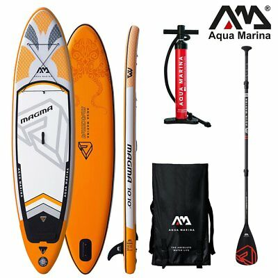 Aqua Marina MAGMA Stand Up PLANCHE Pagaie SUP pour barbotter isup Charbon