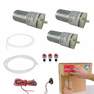 DC 6V 9V Mini Air Pump Motor Für Dispenser Fountain Drink Machine Project DIY