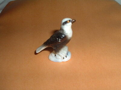 Vintage Bird of Prey Bone China Porcelain Figurine Hawk Eagle 1 1/8""