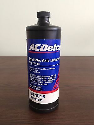 AC Delco  10-4016 GM 88900401 full synthetic axle lubricant 10-4016 32oz.