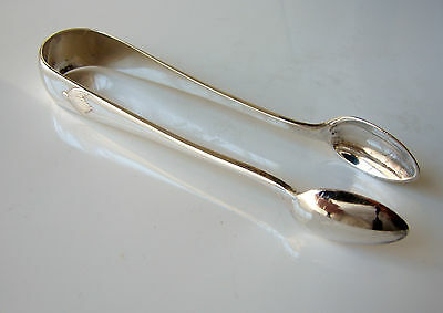 Antique Full Hallmarks 1908 Solid Sterling Silver Sugar Tongs