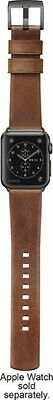 Nomad - Leather Watch Strap for Apple Watch 38mm - Brown w/ Black Lugs