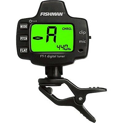 Fishman FT-1 Digital Chromatic Clip-On Tuner (Guitar, Bass, Uke) BRAND NEW!