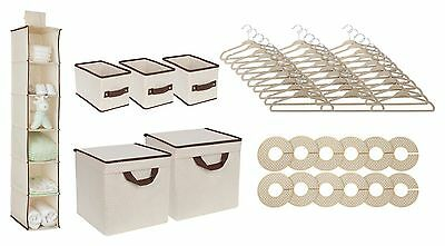 Delta Children Infant Nursery Storage Baby Closet Set - 48 Piece - Beige, NEW R1