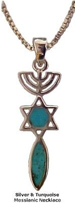 Silver & Turquoise Messianic Necklace