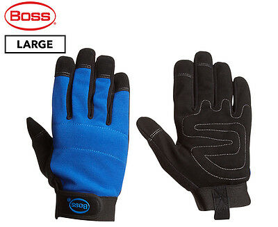 Boss Large Mechanic Gloves - Blue/Black