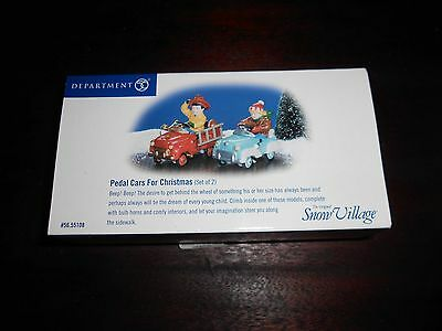 DEPT 56 SNOW VILLAGE Accessory PEDAL CARS FOR CHRISTMAS NIB