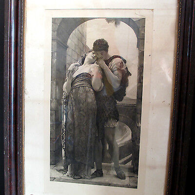 Wedded by Lord Frederic Leighton - Antique Framed Engraving Burlington Proof