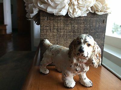Hubley Cocker Spaniel Cast Iron Paperweight Collectible