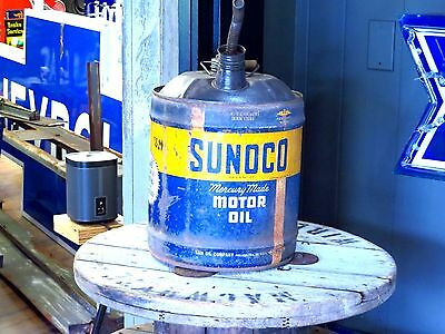1946 Sunoco 5 gallon motor  oil can Great for Ratrod display