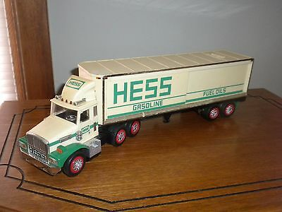 1987 Hess Tractor Trailer Truck Bank for Parts or Restoration