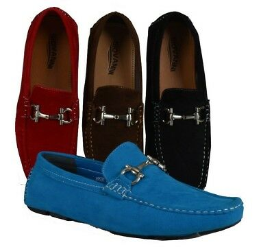 Men's Giovanni Dress Shoes Suede Loafers Casual Prom Italian Moccasin M9537