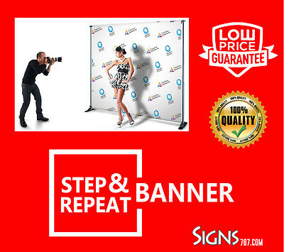 Step & Repeat Backdrop Banner 12'w X 8'h