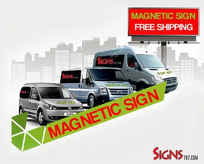2- 18x24 Custom Car Magnets Magnetic Auto Truck Sign