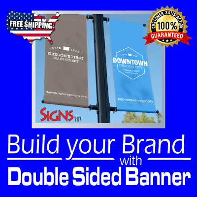 4 x 14 DOUBLE SIDED PRINT 15 oz FULL COLOR CUSTOM BANNER***FREE SHIPPING****