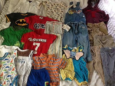 Baby Boys Clothing Size 12-24 Months Lot Of 21