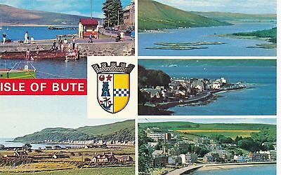 ISLE OF BUTE in Multi-View old Postcard