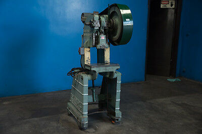 "15 Ton Rousselle MDL 2 OBI Power Punch Press Metal Hole Stamping 2"" Stroke"