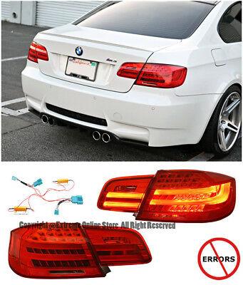 For 07-13 BMW E92 3-Series 2Dr Coupe LCI Style Rear LED Tail Signal Light Pair