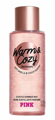Victoria's Secret Pink New! Warm & Cozy Shimmer Scented Shimmer Mist 250ml