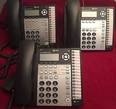 AT&T 1-1080/2- 1040 4-line Phone System Lot of 3 Nice Business Phones