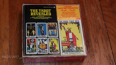 RARE 1971 Rider Waite Tarot Deck & Book Gift Collection Boxed Set. Amazing!