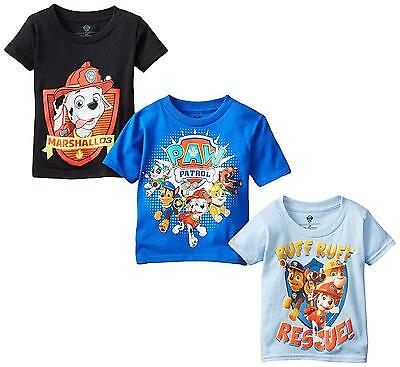 Toddler Paw Patrol T Shirt 3 Pack Assorted 4T Tops Little Boys Kids Clothes New