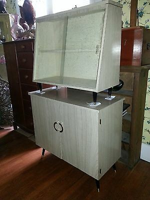 Swedish mid century furniture display case and cabinet