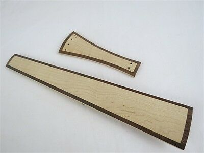 Violin part,Baroque Style nature maple  4/4 violin fingerboard  and tailpieces