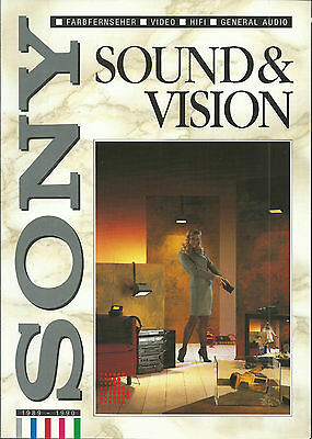 Sony Programm '89/'90 / Fernseher Video HiFI Audio / Katalog Prospekt Brochure