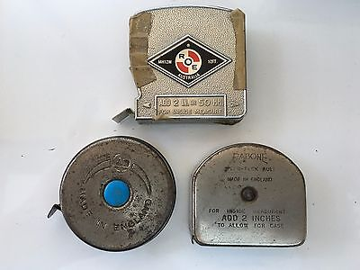 Vintage 3 x Tape Measures Roe Rabone + A1