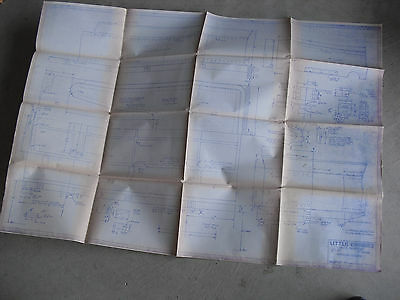 Vintage 1969 Little Engines American Tender Blueprint LOOK
