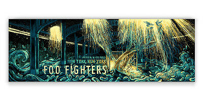 Foo Fighters Poster 7/15-16/15 Citifield New York Signed & Numbered #/150