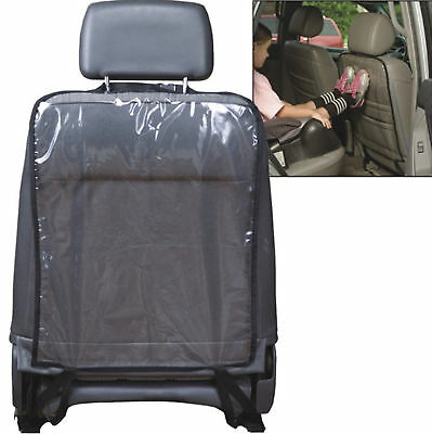Car Auto Seat Back Protector Cover For Children Kick Mat Mud Clean Black +Buckle