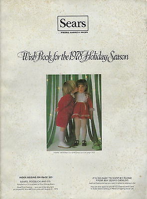 Vintage Sears Wish Book For The 1978 Holiday Season Complete Nice!