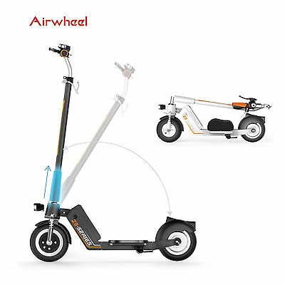 Airwheel Electric Folding Bike Scooter Foldable Foldaway W/ Seat Aluminum Alloy