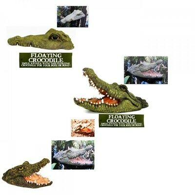 1pce Floating Crocodile Head Realistic Great for Keeping Ducks and Birds Away 3