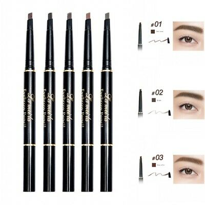 2 in 1 Women Eyebrow Pencil Pen Waterproof Eye Brow Gel Eyebrow Cream Makeup