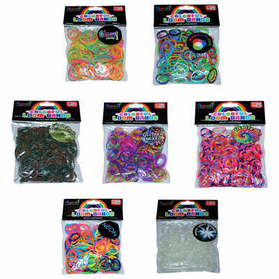 ASAH Colour Loom Bands 300pce + 16 S Clips