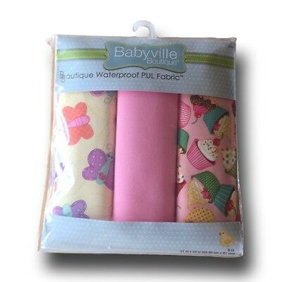 Babyville Boutique Butterflies/Cupcakes - Waterproof PUL Fabric