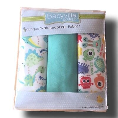 Babyville Boutique Dino/Little Monsters - Waterproof PUL Fabric