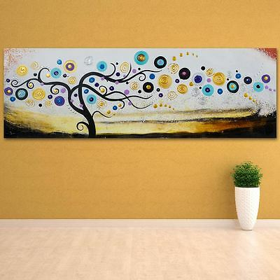Dream Tree Pure Hand Painted Wall Art Oil Painting on Wooden Back Framed Canvas
