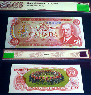 MUSICAL RIDE BANKNOTE -Bank of Canada $50 ,1975