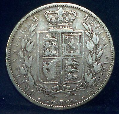 UK ,1881 Silver Half  Crown ,Great Britain KM# 756