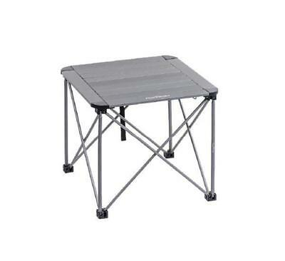 Portable Aluminum Hiking Camping Picnic Folding Table Small With Bag (Black)